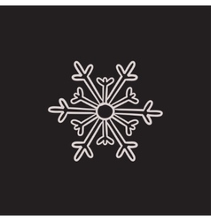 Snowflake sketch icon vector image