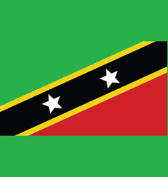 St kitts amp nevis flag for independence day vector