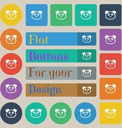 Teddy bear icon sign set of twenty colored flat vector