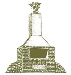 Woodcut Brick Oven vector image vector image