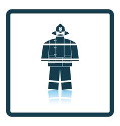 Fire service uniform icon vector image