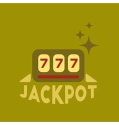 Flat icon on stylish background jackpot lucky vector