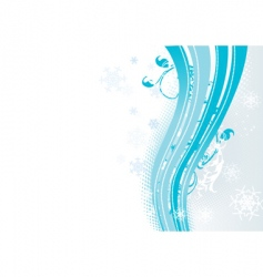 Surreal snowflakes design vector