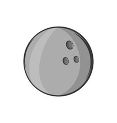 Bowling ball icon black monochrome style vector