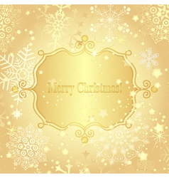 Christmas golden greeting card vector image