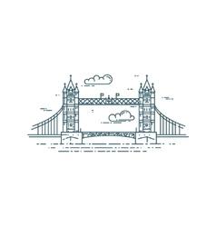 Tower bridge in london vector