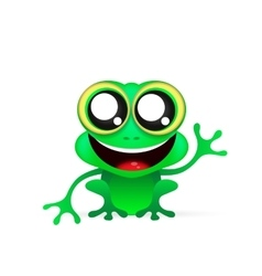 Fun frog on white background vector