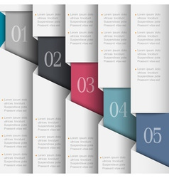 Paper numbered banners vector image