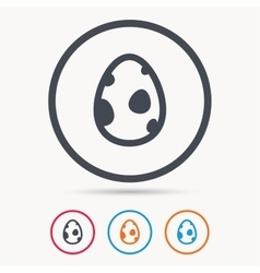 Dinosaur egg icon birth symbol sign vector