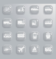 Transportation simply icons vector