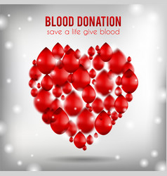 blood donation poster realistic vector image