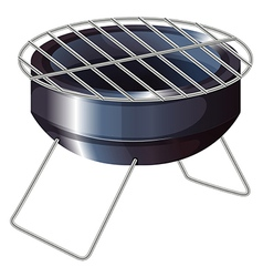 A barbeque grilling stove vector
