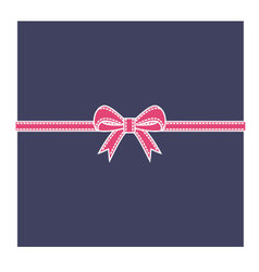 Navy blue box and pink bow vector