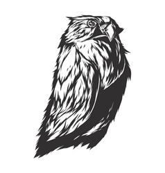 Angry owl sign vector