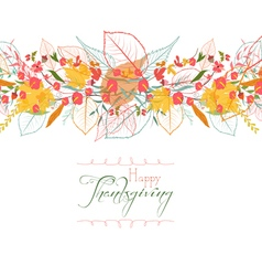 Happy thanksgiving background of stylized autumn vector