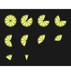 Citrus slices orange lemon lime and grapefruit vector