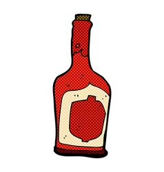 Comic cartoon bottle of rum vector