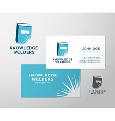 Knowledge welders education abstract logo vector