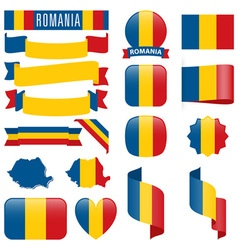 Romania flags vector