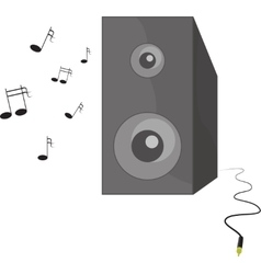 Music playing speaker with vector