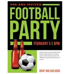 Soccer Football Party Inivitation Template vector image