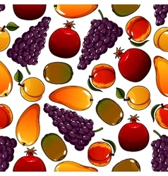 Vegetarian fruits seamless pattern isolated on vector