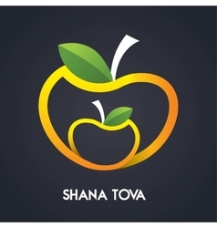 Happy new year shana tova in hebrew jewish vector