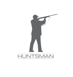 A hunstman aiming with the rifle vector