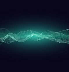 Abstract sound energy wave with dynamic particles vector