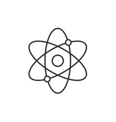 Atomic structure line icon vector