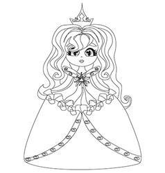 Beautiful little princess vector