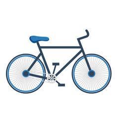 Bicycle vehicle isolated icon vector