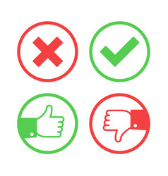 Confirm and reject icons vector