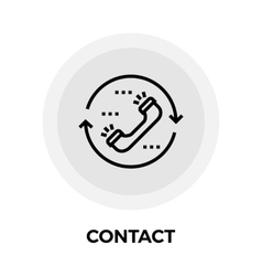 Contact Line Icon vector image vector image