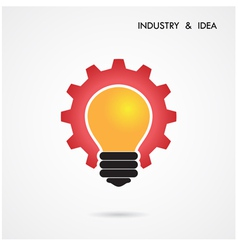 Creative light bulb and gear abstract design vector