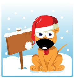 Cute christmas dog vector