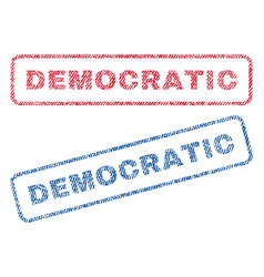 Democratic textile stamps vector