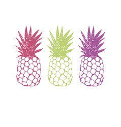 Design with pineapple vector