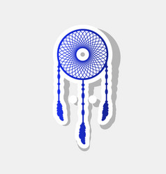 Dream catcher sign new year bluish icon vector