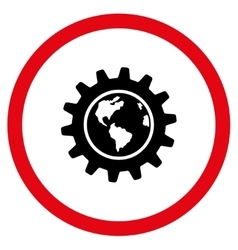 Earth engineering flat rounded icon vector