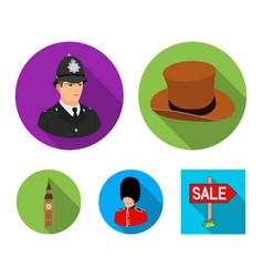 England gentleman hat officer england country vector