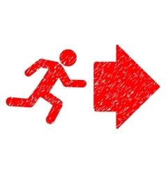 Exit direction grainy texture icon vector