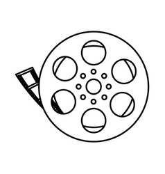 Film tape icon vector