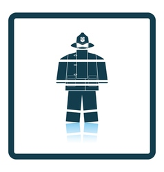 Fire service uniform icon vector image