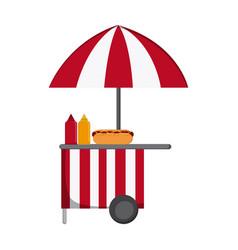 Food cart icon vector