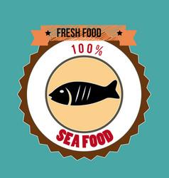 food design over blue background vector image vector image