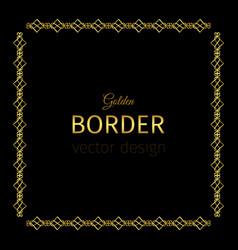 golden square border vector image vector image