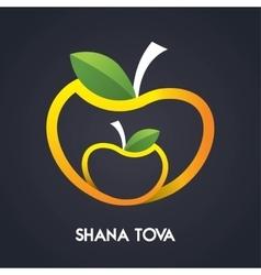 Happy new year shana tova in hebrew jewish vector