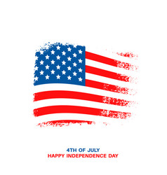 Happy usa independence day card vector