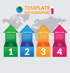 infographic design stock infographic template vector image vector image